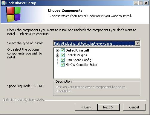 code blocks 10.05 avec compilateur